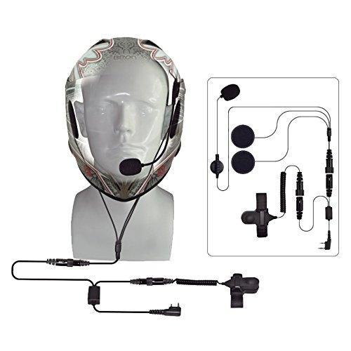 Full Face Motorcycle Bike Car Racing Helmet Earpiece Headset Mic Microphone  For Kenwood BAOFENG QUANSHENG LINTONG radio