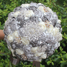 silkroseweddingboquet, Wedding Supplies, pearls, Bouquet