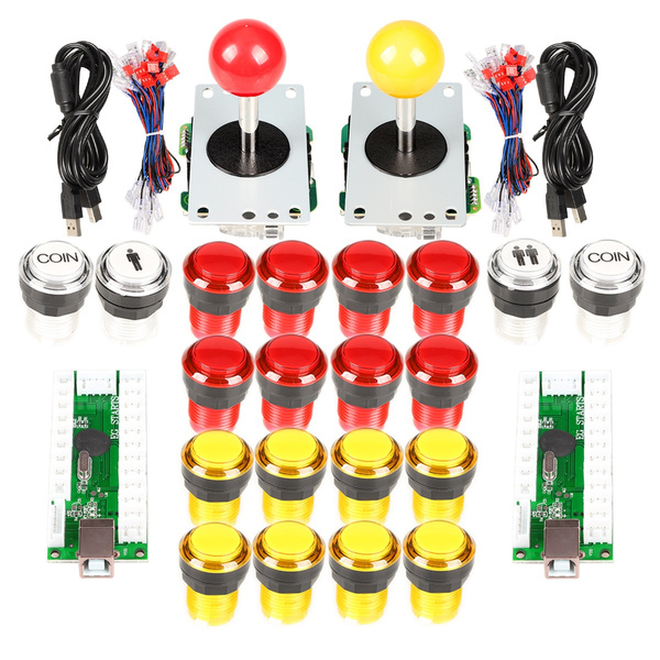 EG Starts New Classic Arcade Game DIY Parts for Mame USB Cabinet 2x Zero  Delay USB Encoder + 2x 5pin Classic Arcade Joystick + 20x 5V LED illuminate