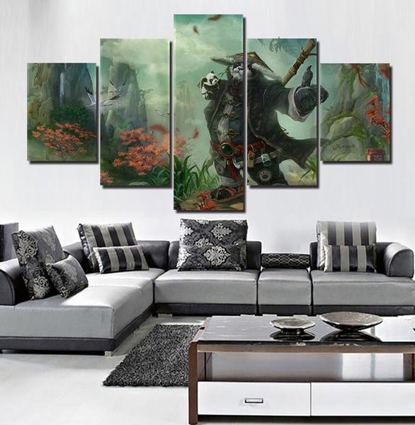 Wish | Unframed 5 Panels HD World of Warcraft Pandaren Brewmaster ...