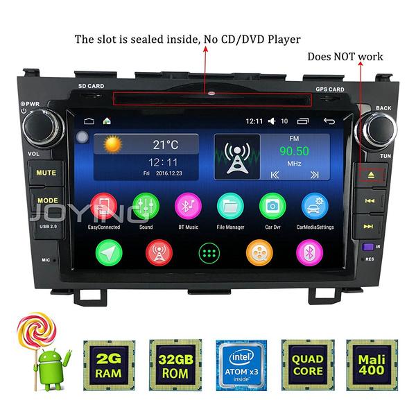JOYING 8 Car Radio for Honda CRV CR_V 2007_2012 Android 5 1 2GB RAM Car  Stereo Head Unit Touch Screen Double Din with Bluetoo