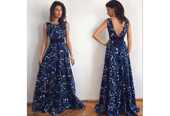 New Style Sexy Women Floral Long Formal Prom Dress Party Ball Gown Evening Wedding Dress