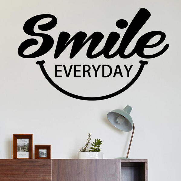 Smile Everyday Wall Decals Vinyl