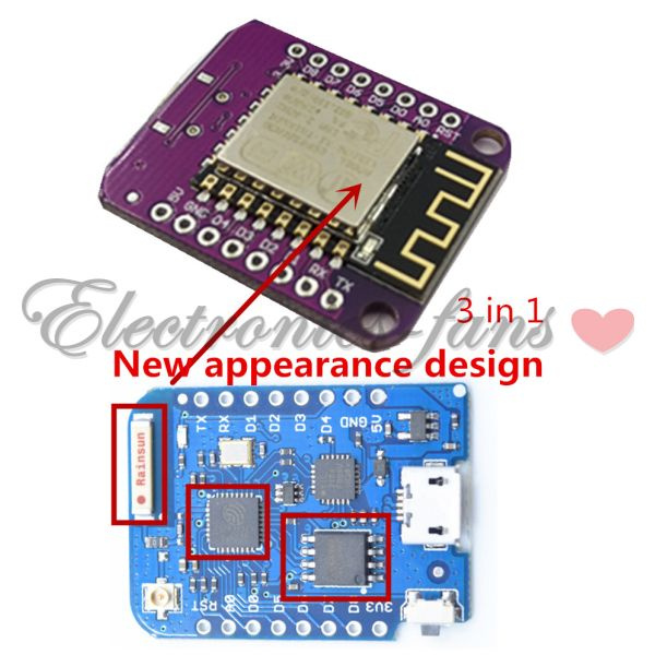 W-lan WeMos D1 Mini Pro ESP12F USB 16MB NodeMcu ESP-8266EX CP2104