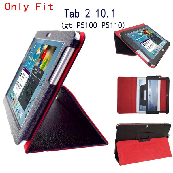 33a4e31567b Tab 2 10.1 p5100 p5110 P5113 Case Flip Stand pu Leather Folio Cover ...