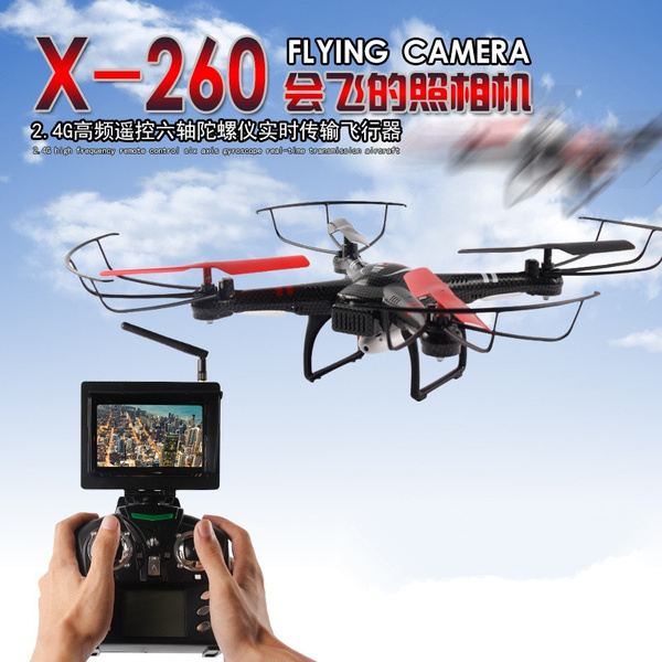 New RC Helicopter Toys X260 5 G FPV monitor or WIFI FPV RC Drones 4CH  6-Axis Gyro Headless Mode Automatic Return RC Quadcopter with HD camera