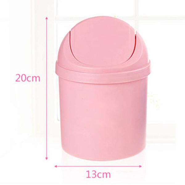 Ideal Wish | Home Mini Waste Bin Desktop Garbage Basket Table Roll Swing  NC02