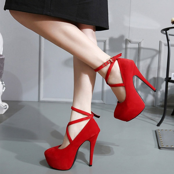 97610647ed76 Women Strappy High Thin Heels Pumps Sexy Women Dress Shoes Ladies ...