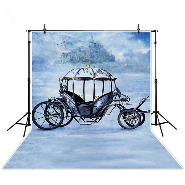 Princess Carriage Photography Backdrops Retro Vintage Castle Photo Studio  Backgrounds Photobooth Props