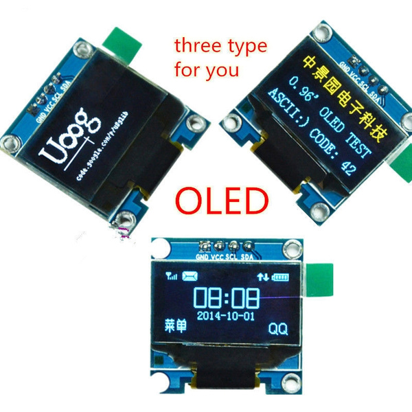 0 96inch I2C IIC Serial 128X64 OLED LCD LED Display Module SSD1306 for  Arduino #4 or #7