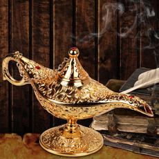 aladdinmagiclamp, golden, Home Decor, wishinglamp