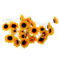 hair, Decor, Flowers, Sunflowers