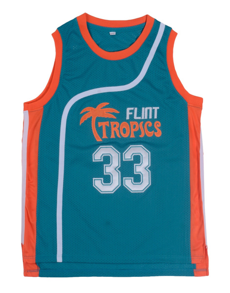 817d559f Wish | Retro Basketball Movie Jersey Jackie Moon Flint Tropical Throwback  Jerseys Stitched Jersey Man White Green #33