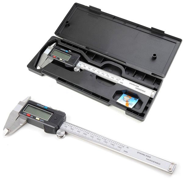 150mm Digital Vernier Caliper Stainless Steel Electronic Micrometer Tool