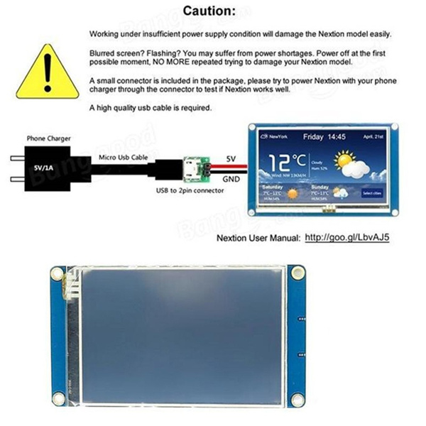 3 5 inch Nextion NX4832T035 HMI TFT LCD Touch 480 x 320 Display Module  Resistive Touch Sn