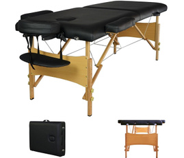 Tables, massagetable, black, Massage