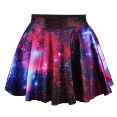 Summer, Pleated, galaxy skirt, mini skirt