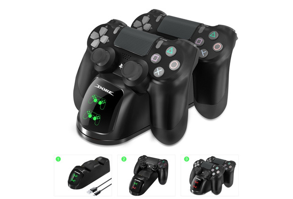 New Arrival PS4 Dual Shock Controller Dual USB Charging Charger Docking Station for PS4 / PS4 Slim / PS4 Pro Controller