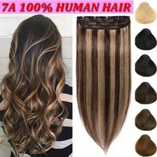 clip in hair extensions, human hair, 100realhumanhair, Virgin Hair