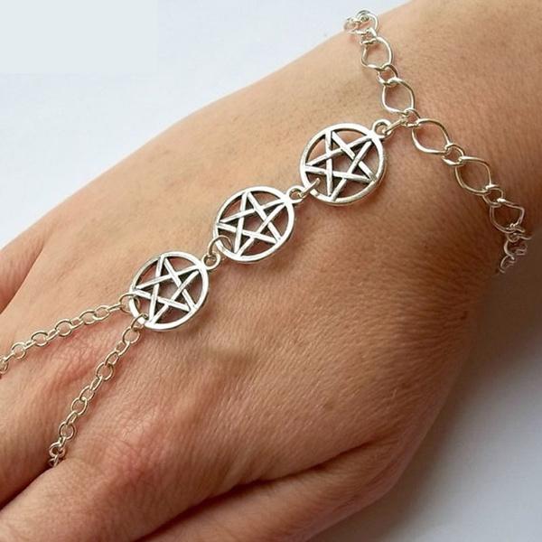 Silver Wiccan Slave Bracelet Wicca