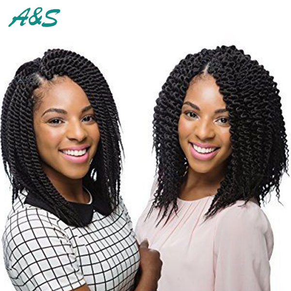 6 Packs 24 Rootspack 65g Short Length Senegalese Twists Braiding