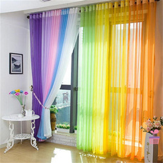 bedroomcurtain, rainbow, luxurysheercurtain, Fashion