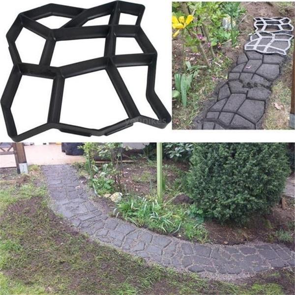 DIY Driveway Paving Garden Brick Patio Mold Concrete Slabs Path Walk Maker  Mould