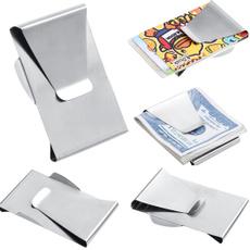 Steel, slim, pocketclip, steelmoneyclip