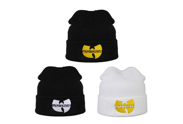 80fef0ad0 Hip Hop Fashion WU TANG CLAN Men's Hats Unisex Winter Warm Beanies Hat for  Women Men Outdoor Casual Hip Hop Black Knitted Bonnet Ski Gorros Toca