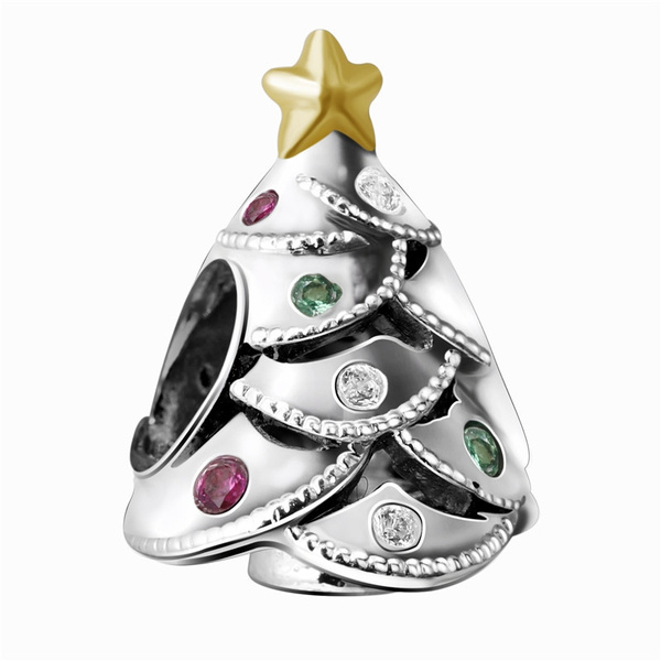 Women Authentic 925 Solid Sterling Christmas Charm fit European Original Chain