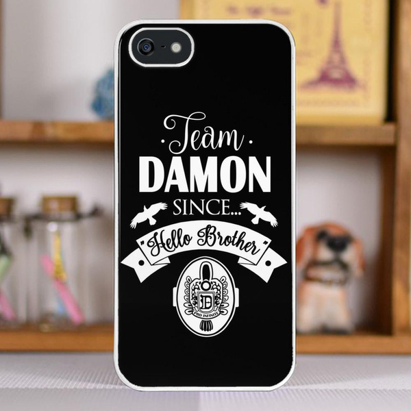 b2b1d1e772db Team Damon Since Hello Brother. Damon Salvatore. TVD. Pattern Phone Case  for iPhone and Samsung