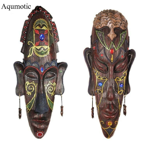 Aqumotic Tribal Mask African For Wall Decor South Stand Sticker 1pc About 7 5in The Art Of Masks Stickers Bar