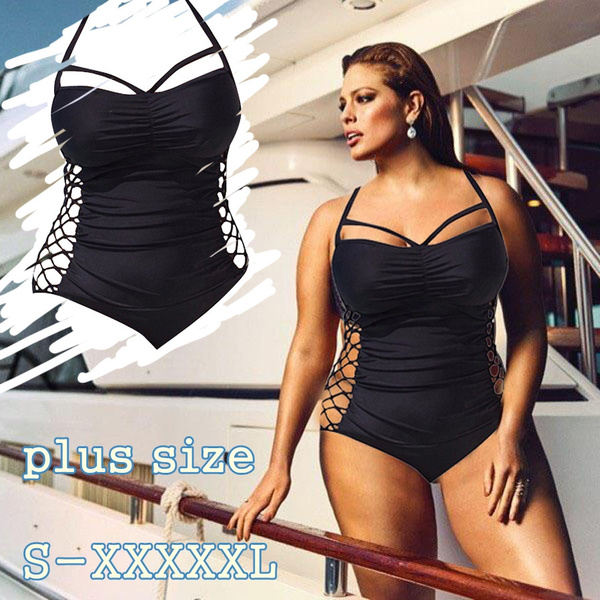 cb2b3772b086e Plus Size U.S. L-5XL Beach Push Up Bikini Maternity Swim Suit ...