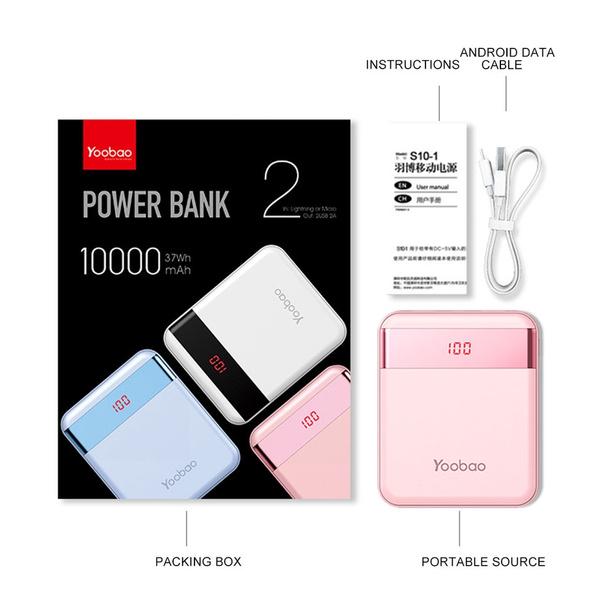Wish Al 10000mah Portable Yoobao Power Bank External Backup