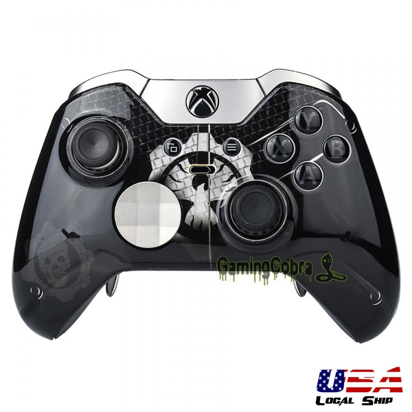 Custom Front Housing Shell Faceplate Black Ring Cover for Xbox One Elite  Controller