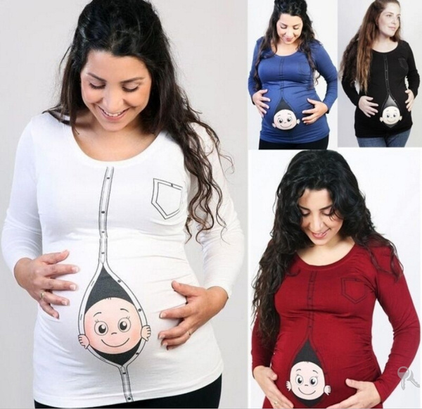17ae1f57 Baby Loading T Shirts L-5XL Pregnant Women Long Sleeve T Shirt ...