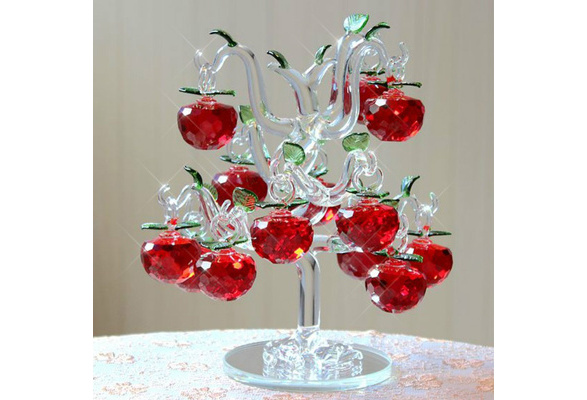 Crystal Apple creative living room home decorations wedding dress birthday wedding gifts practical crafts Valentine's Day Decoration