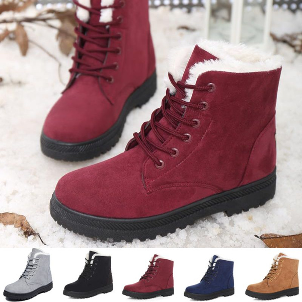 41329a4fe1256 Size 35-44 Plus Size Women Snow Boots Flat Cotton Shoes Winter Short ...