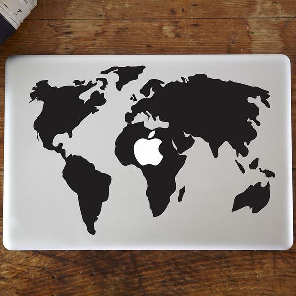 Wish retro world map pattern vinyl decal sticker for macbook air wish retro world map pattern vinyl decal sticker for macbook airpro laptop gumiabroncs Gallery