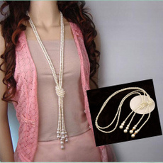 longsweaterchainnecklace, Fashion, fashionpearlnecklace, Jewelry