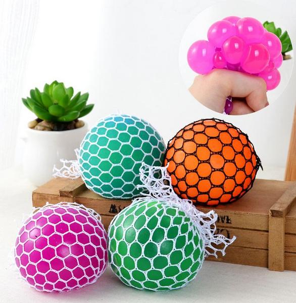 Squishy Mesh Ball Sensory Toy Fiddle Stress Sensory Autism ADHD