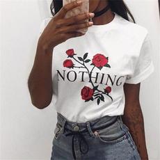 Summer, Shorts, Sleeve, Rose