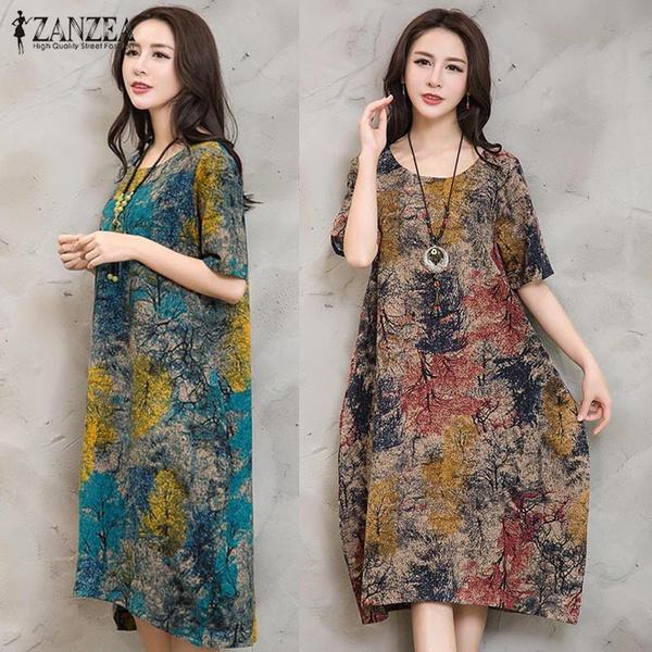 Summer, Plus Size, Dress, women long dress