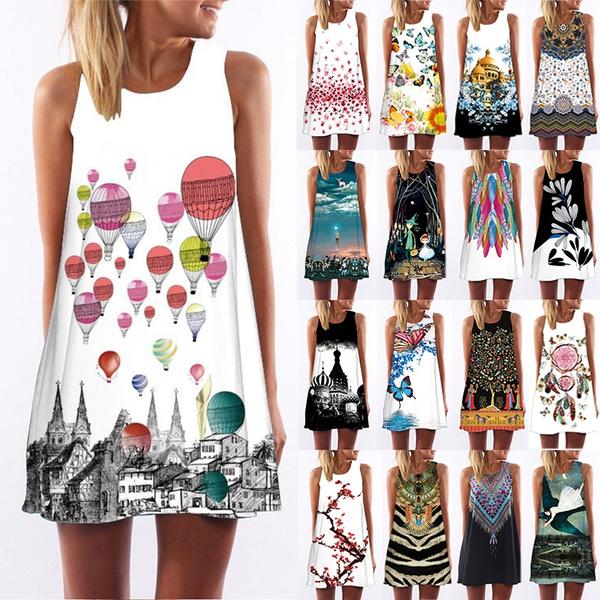 cartoon print dress