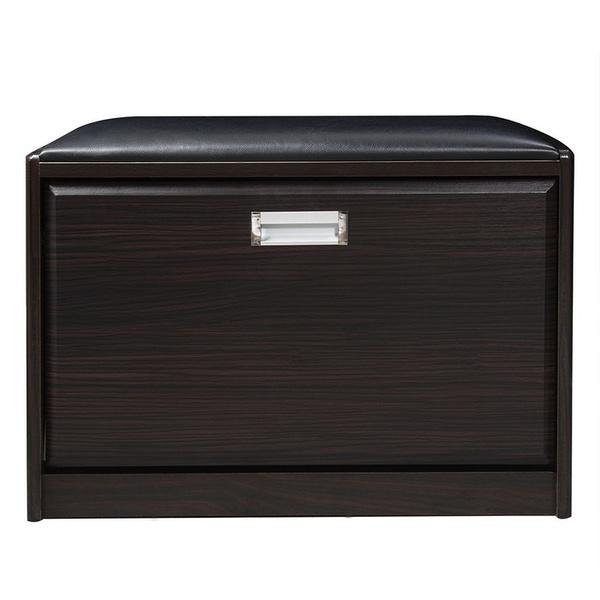 Wish Cr Wooden Shoe Cabinet Closet Storage Rack Pu Seat Bench Entryway Hallway De