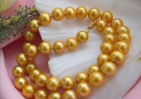 shellpearlnecklace, Natural, Jewelry, gold
