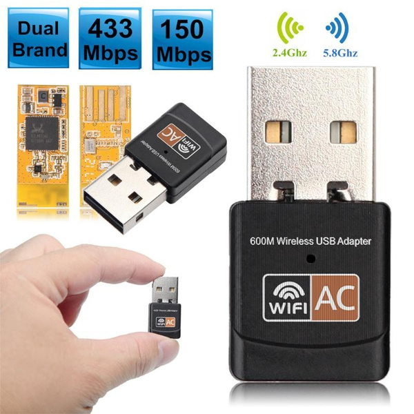 600Mbps Dual Band 2.4G//5G Hz Wireless Lan USB 2.0 WiFi Network  Adapter 802.11AC