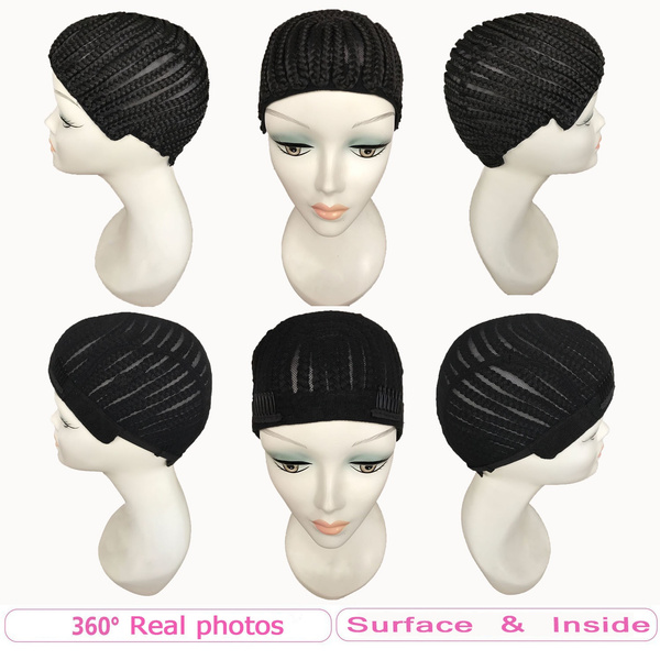 Wish Fashion Cornrow Wig Caps For Making Wigs With Combs On Side