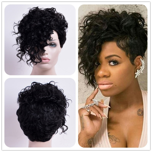 Short Curly Wigs for Women - African American