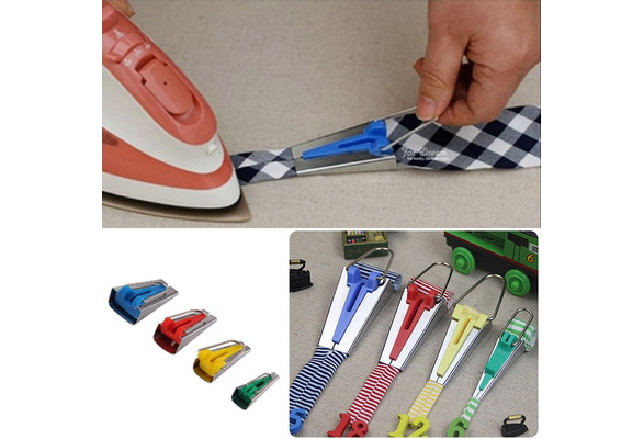 Splicing Cloth 4 Size Fabric Bias Tape Maker Binding Tool Quilting Sewing 6mm\12mm\18mm\25mm Craft DIY